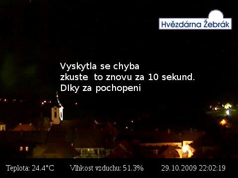 Webkamera Hvězdárna Žebrák